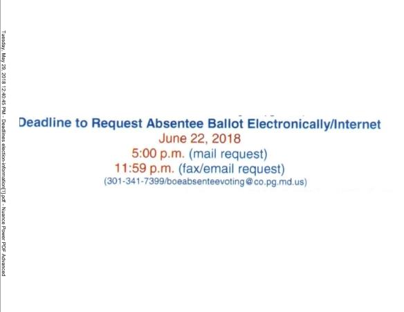 Absentee Ballot Electronic